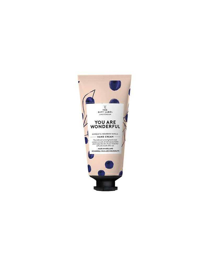Håndcreme tube 40 ml - You are wonderful - The gift label