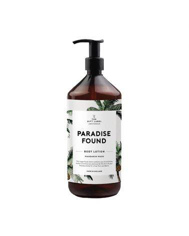 Body lotion 1000 ml - Paradise found - The gift label