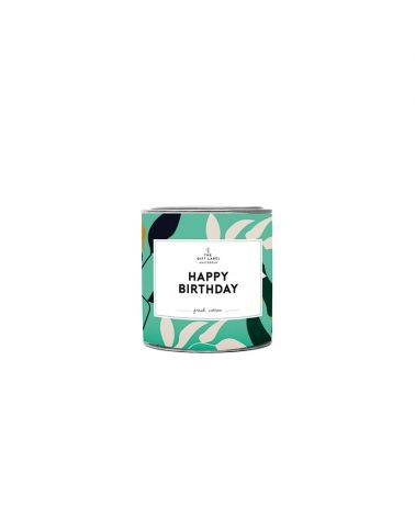 Duftlys 90 gr. - Happy birthday - The gift label