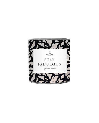 Duftlys 90 gr. - Stay fabulous - The gift label