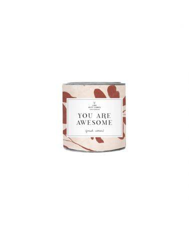 Duftlys 310 gr. - You are awesome - The gift label
