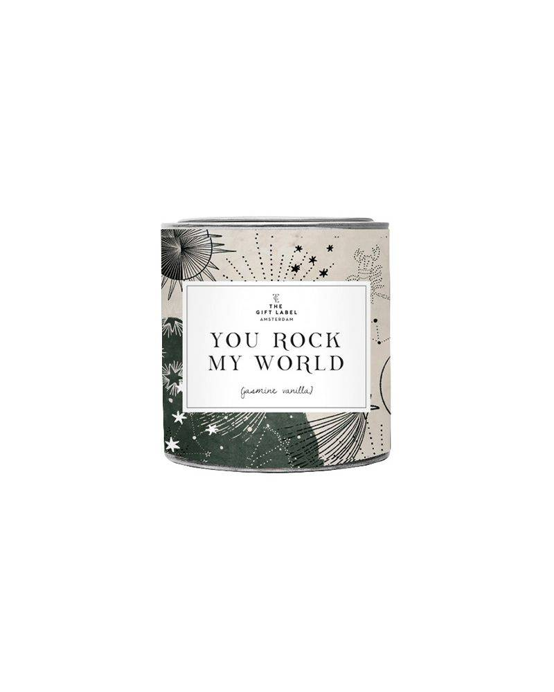 Duftlys 310 gr. - You rock my world - The gift label