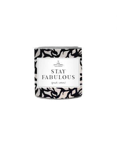 Duftlys 310 gr. - Stay fabulous - The gift label