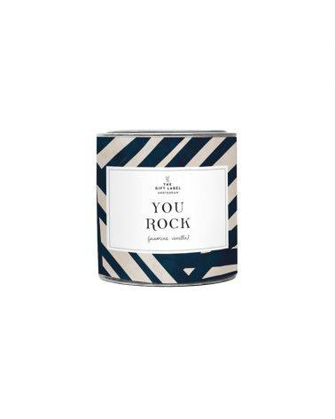 Duftlys 310 gr. - You rock - The gift label