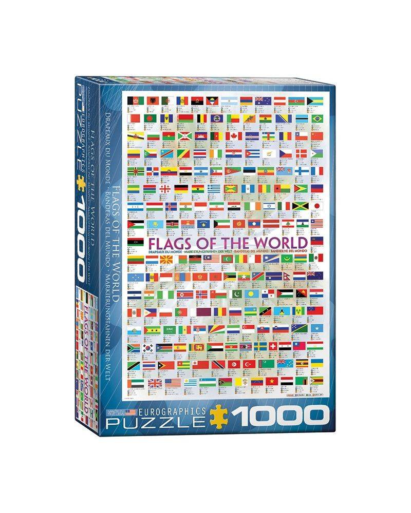 Flags of the world 1000 brikker - Eurographics