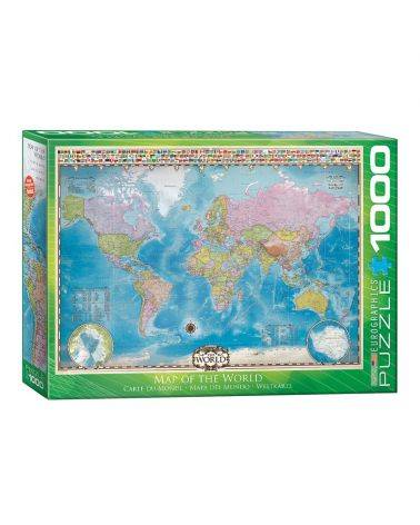 Map of the world 1000 brikker - Eurographics