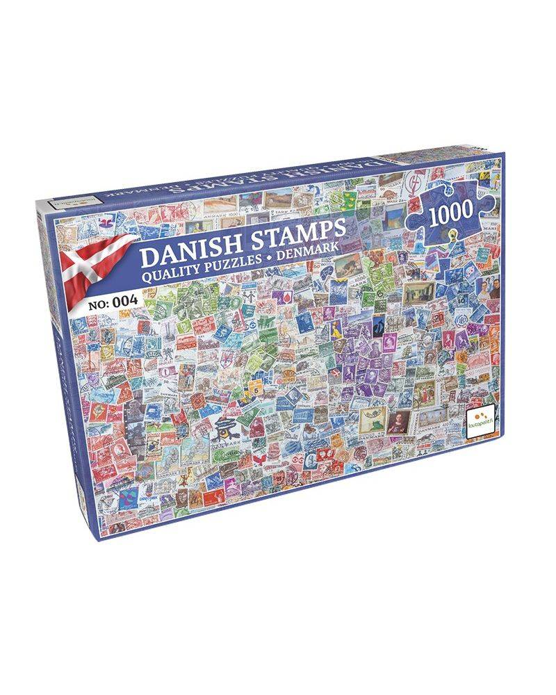 Danish stamps 1000 brikker...