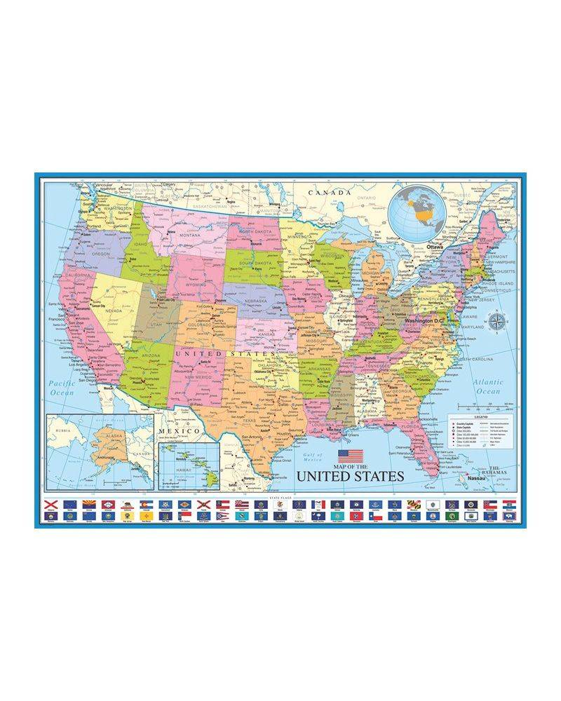 Map of The USA 1000 brikker...