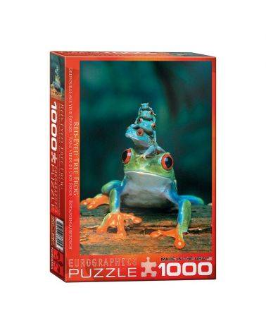 Red eyed tree frogs 1000 brikker - Eurographics