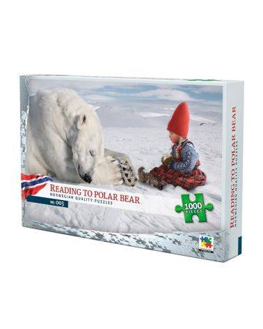 Reading to the polar bear 1000 brikker - Nordic