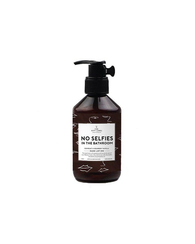Håndlotion 250 ml - No selfies in the bathroom - The gift label